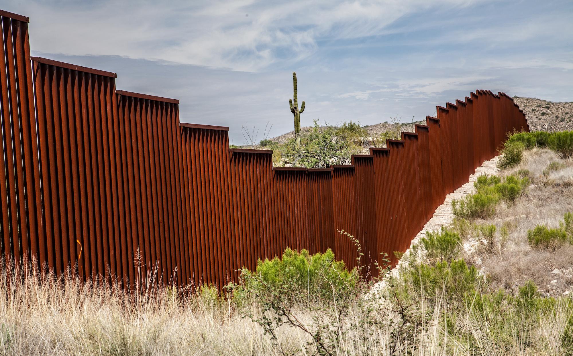 US-Mexican border in Arizona, USA
